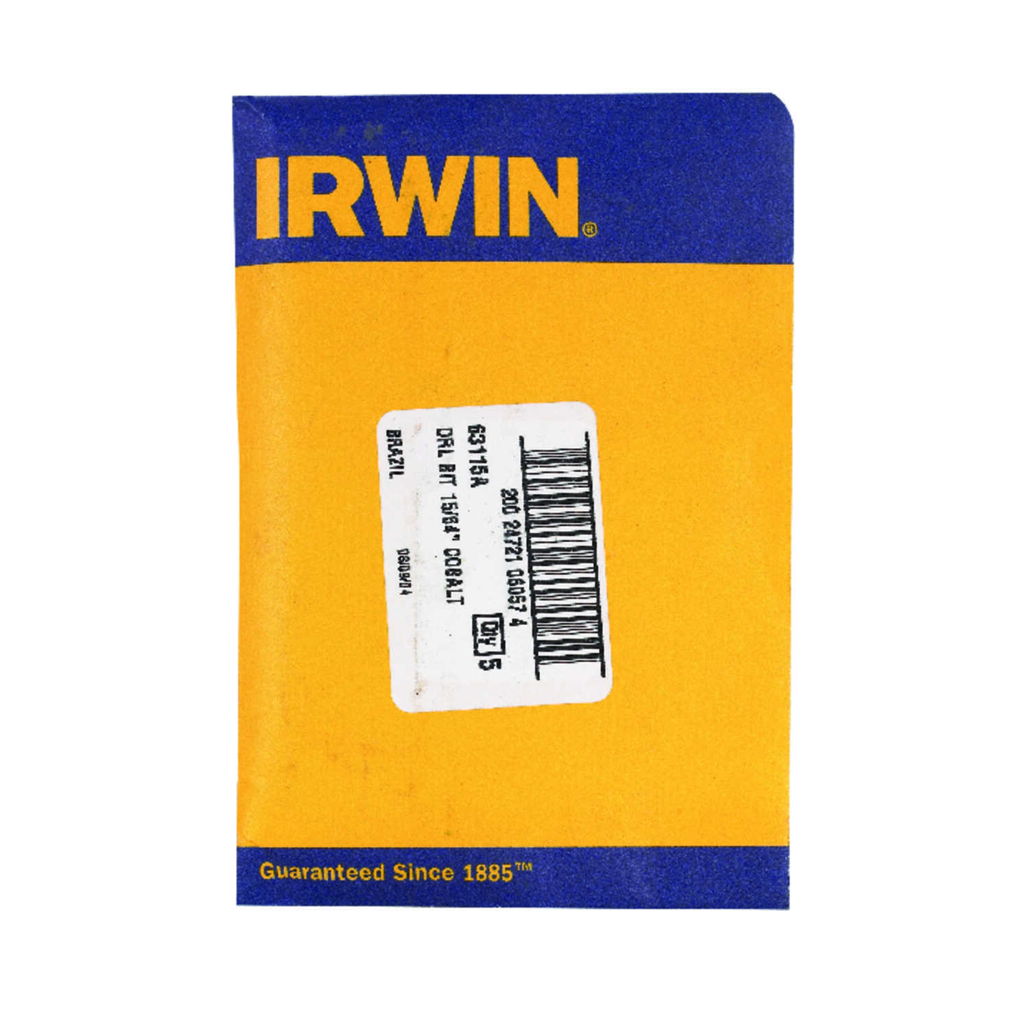 Irwin  Cobalt  15/64 in. Dia. x 3-7/8 in. L High Speed Steel  Drill Bit  Straight Shank  12 pc.