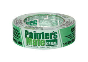 Painter's Mate  1.41 in. W x 60 yd. L Green  Medium Strength  Masking Tape  1 pk