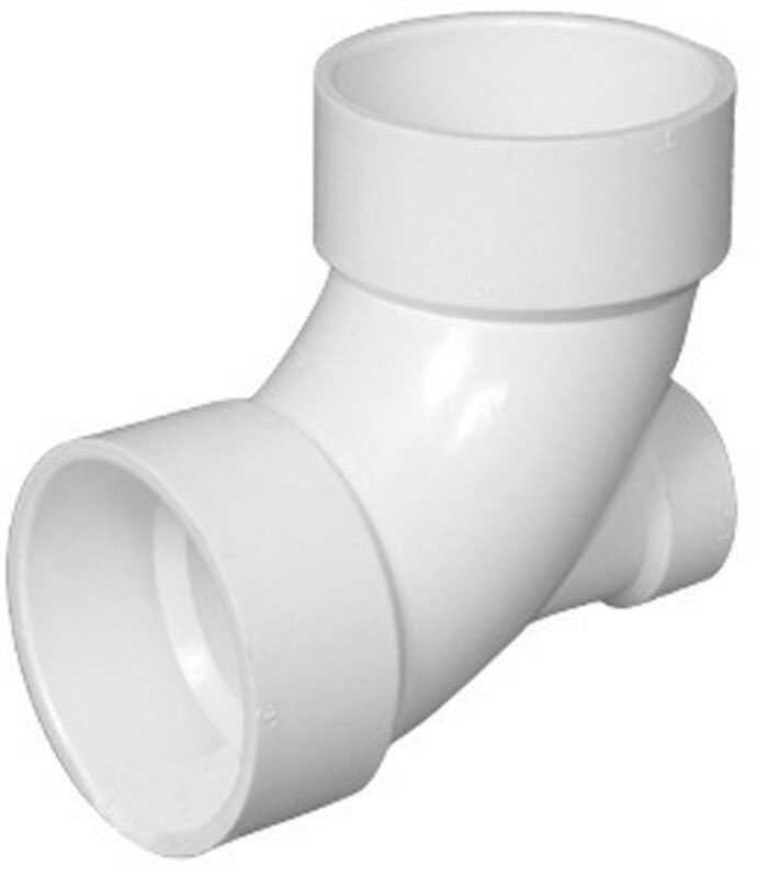 Charlotte Pipe  Schedule 40  3 in. Hub   x 3 in. Dia. Hub  PVC  Elbow