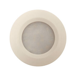 Amertac  White  Plug-In  LED  Puck Light  1 pk