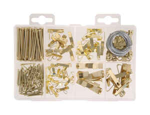 Hillman  Brass-Plated  Silver  Assorted  Picture Hanging Set  50 lb. 2 pk