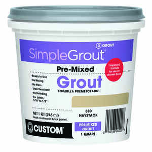 Custom Building Products  SimpleGrout  Indoor  Haystack  Grout  1 qt.
