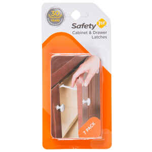Safety 1st  White  Plastic  Drawer Latches  7 pk