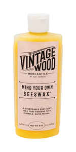 Amy Howard at Home  Vintage Wood Mercantile  White  Mind Your Own Beeswax  8 oz.