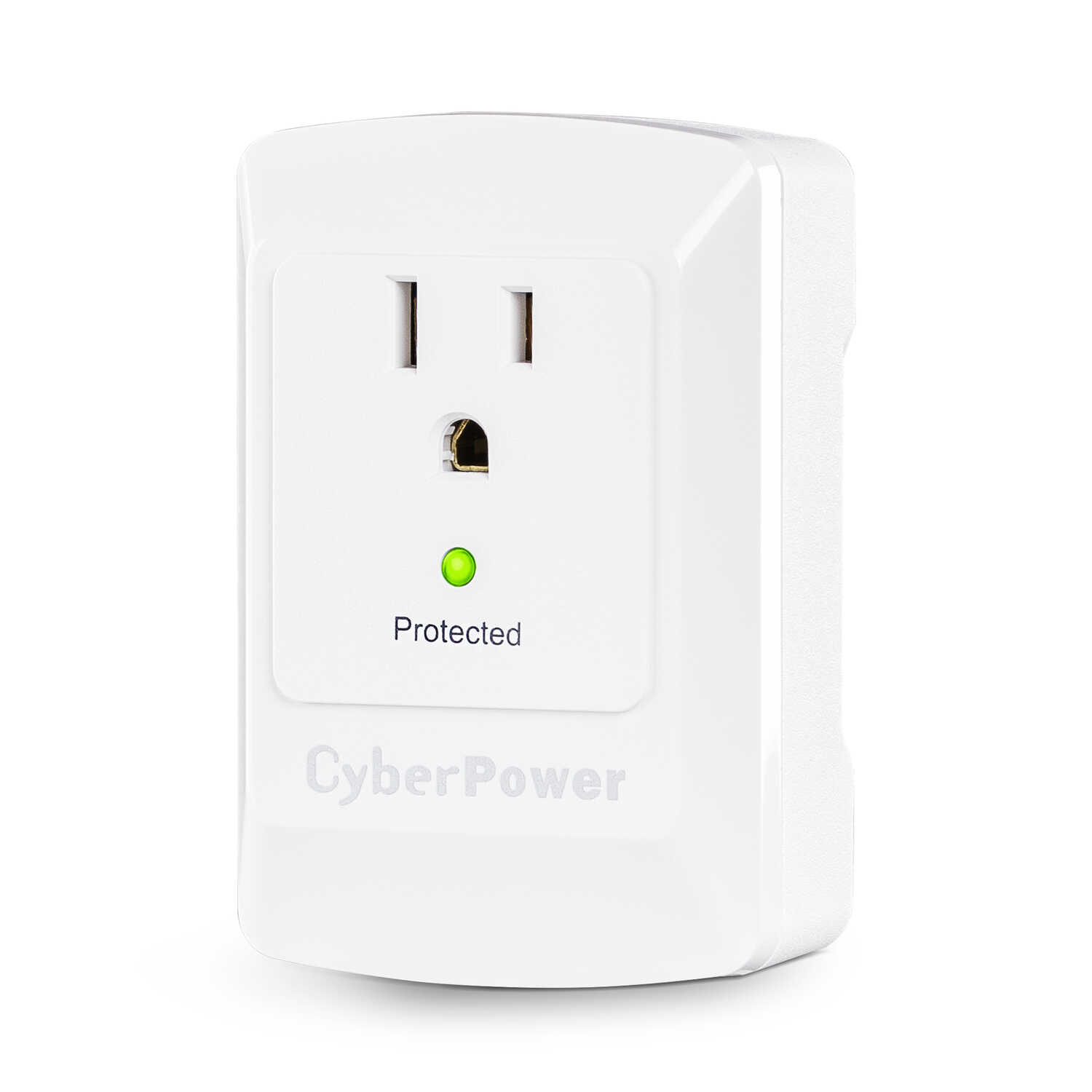 CyberPower  Essential  1 outlets Wall Tap  White