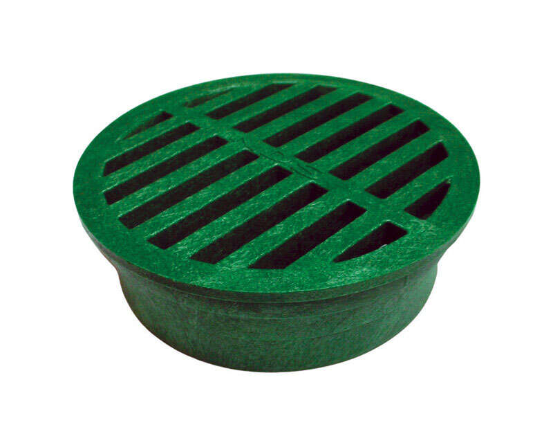 NDS  4 in. Green  Round  Polyolefin  Drain Grate