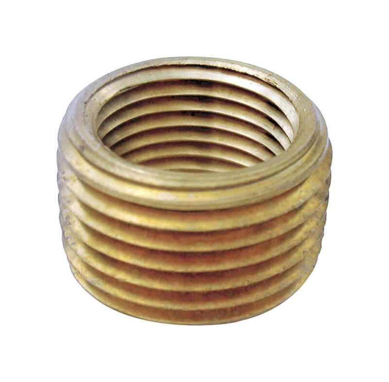 JMF  3/8 in. Dia. x 1/4 in. Dia. MPT To FPT  Yellow Brass  Pipe Face Bushing