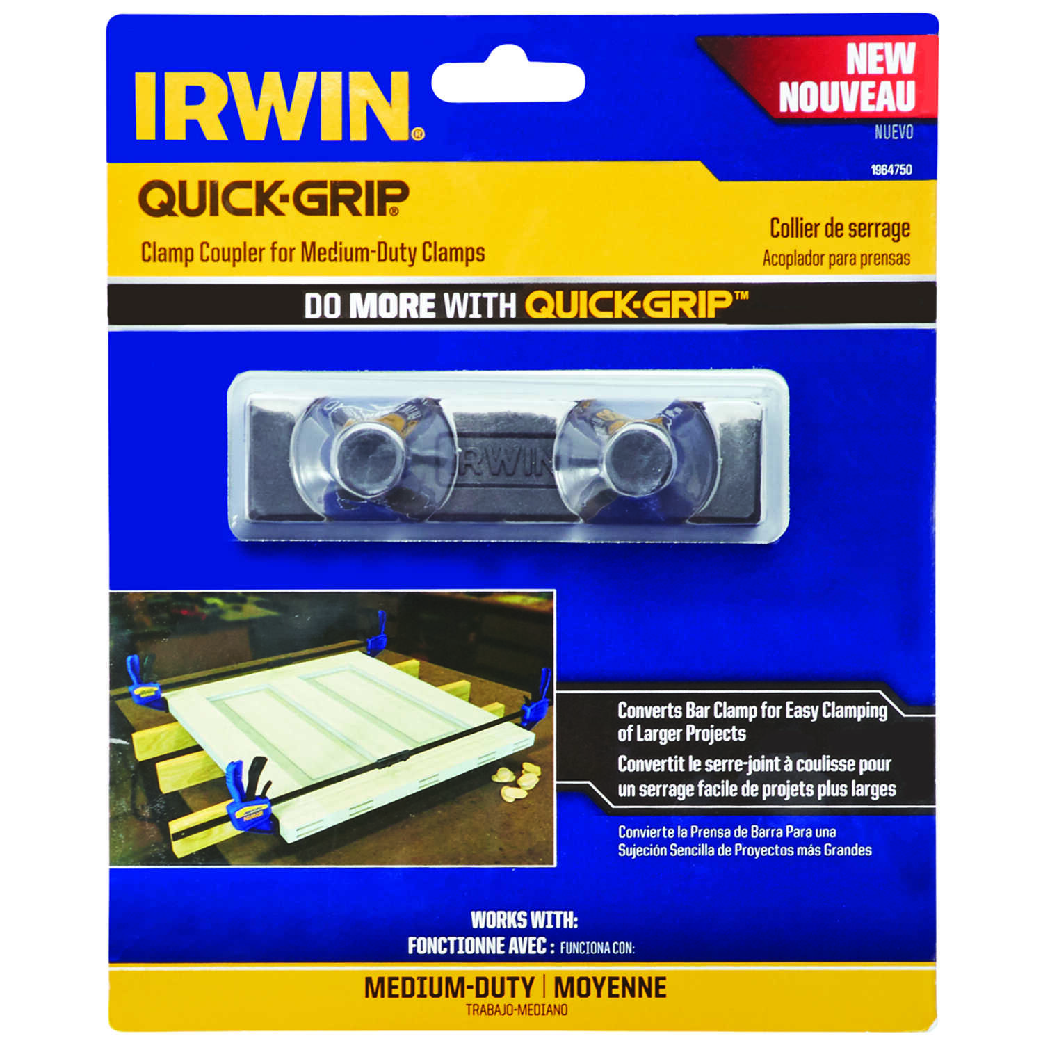 Irwin  Quick-Grip  3.5 in. D Plastic  Bar Clamp  300 lb. 1 pc.