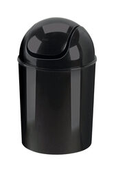 Umbra  1.25 gal. Black  Swing-Top Lid  Wastebasket