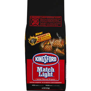 Kingsford  Match Light  Original  6.2  Charcoal Briquettes