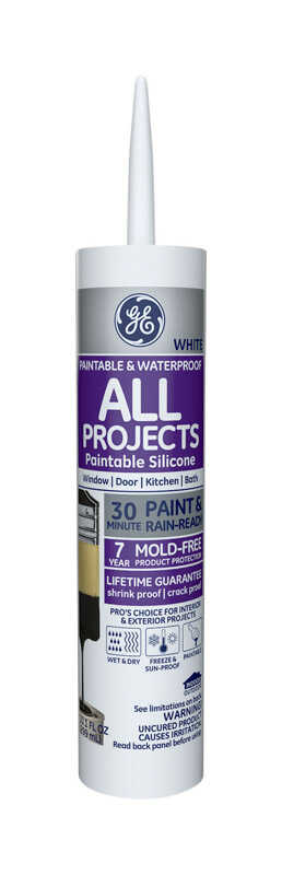 GE  White  Silicone 2  Sealant  10.1 oz.