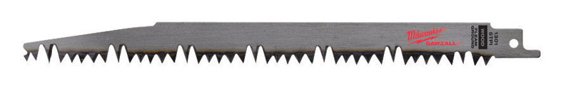 Milwaukee  SAWZALL  9 in. L x 1 in. W Pruning  Reciprocating Saw Blade  5 TPI 1 pk Carbon Steel