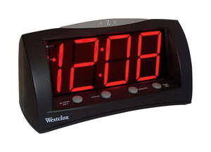 Westclox  Black  Alarm Clock  Digital  3 in.