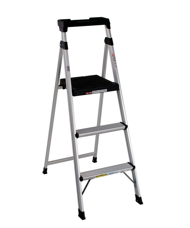 Cosco  5 ft. H Aluminum  Step Ladder  Type II  225 lb.