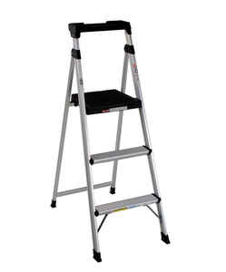Cosco  5 ft. H Aluminum  Type II  225 lb. Step Ladder