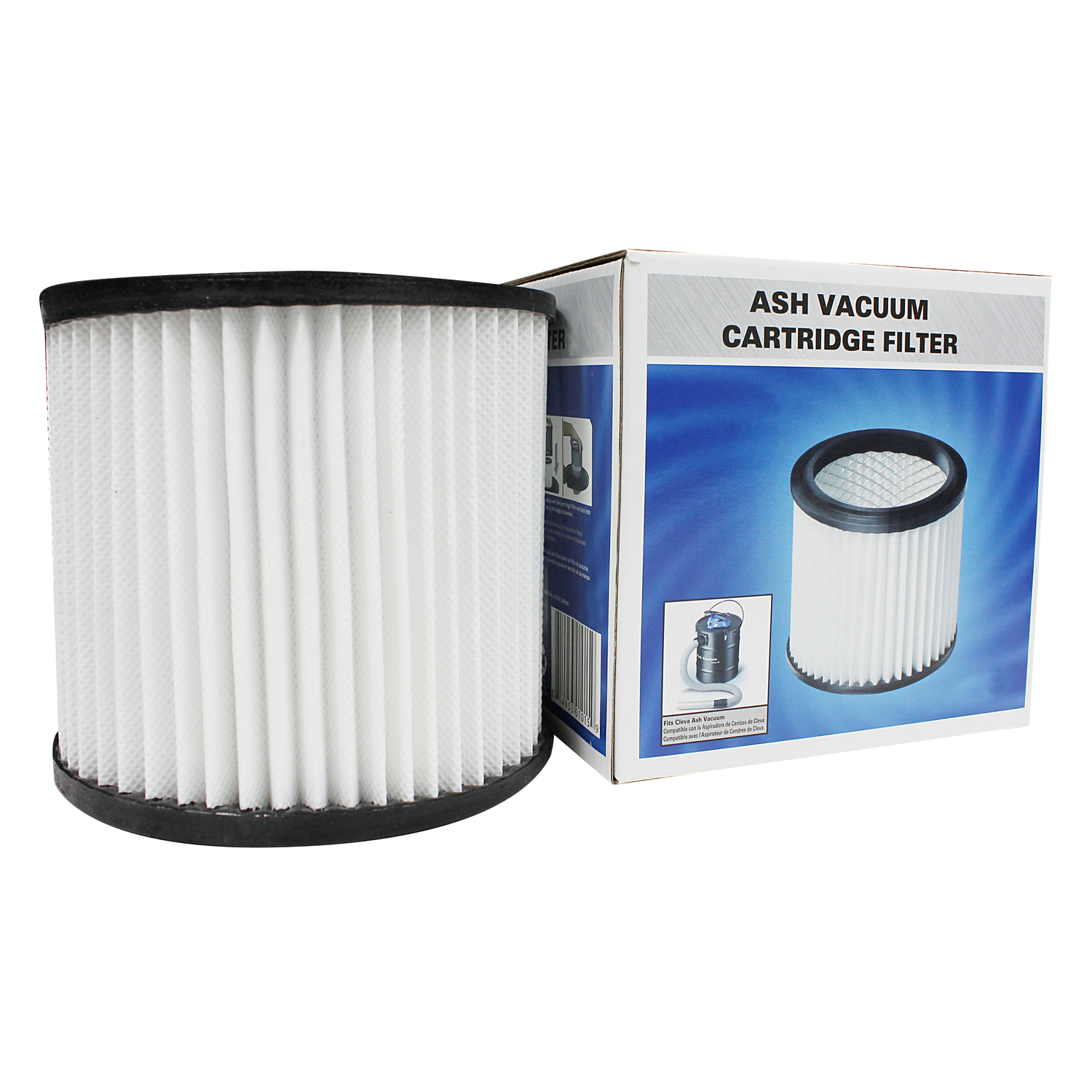 Darcon  5.4 in. L x 5.5 in. W CARTRIDGE  Ash Vacuum Cartridge Filter  White  1 pk