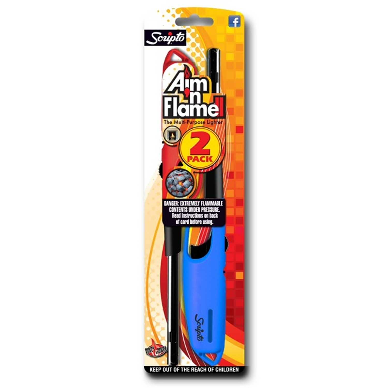 Scripto  Aim'nFlame Torch Flame  Utility Lighter  2 pk