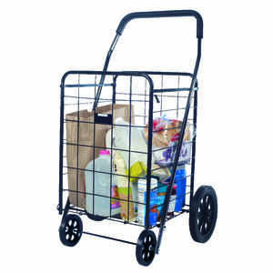 Apex  40-9/16 in. H x 24-13/16 in. W x 21-1/2 in. L Black  Collapsible Shopping Cart