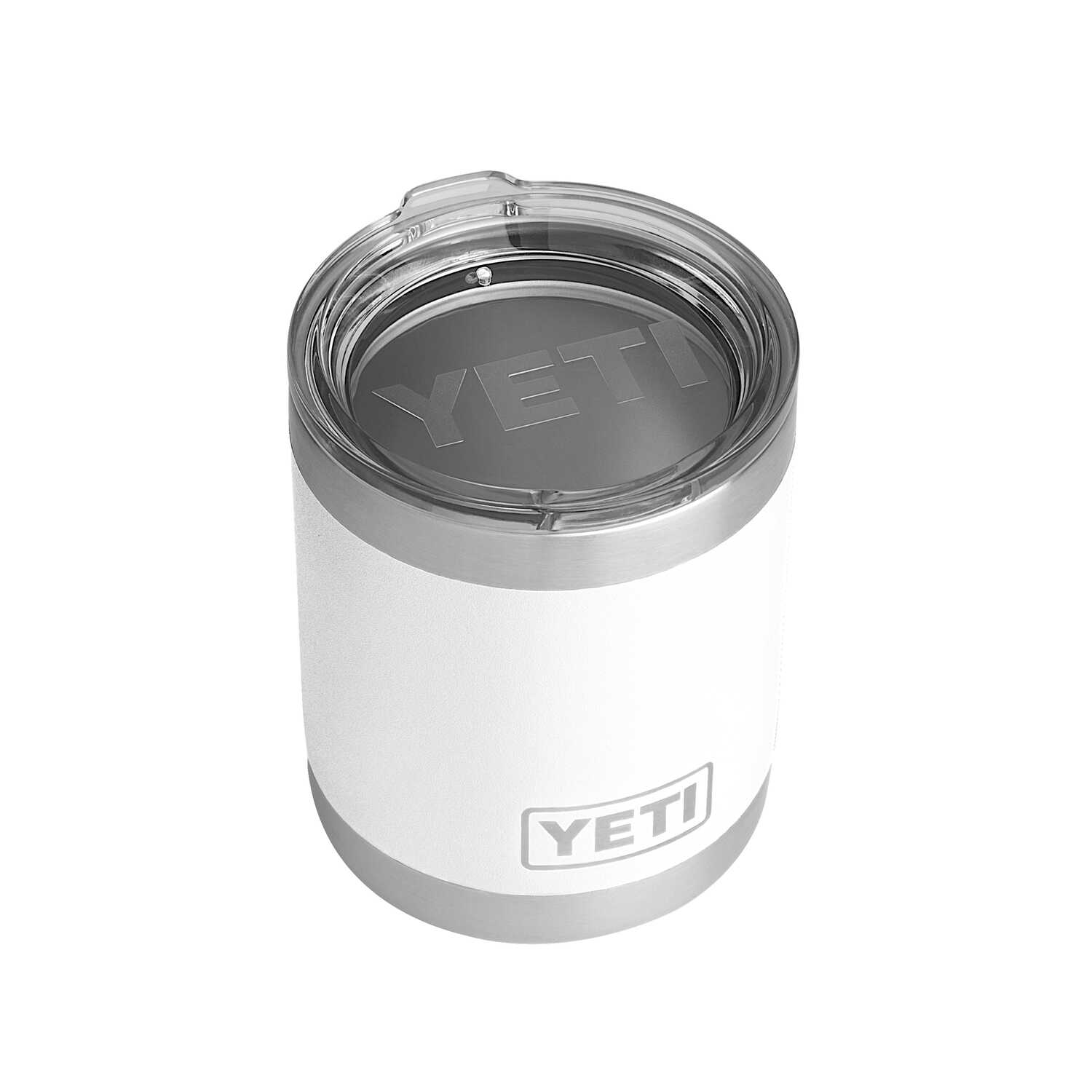 YETI  Rambler Lowball  White  Stainless Steel  Insulated Tumbler  BPA Free 10 oz.