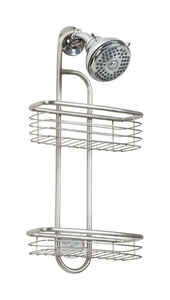 InterDesign  Forma  20-1/2 in. H x 9-3/4 in. W x 5 in. L Brushed  Silver  Shower Caddy