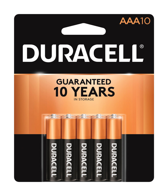 Duracell  Coppertop  AAA  Alkaline  Batteries  1.5 volts 10 pk Carded