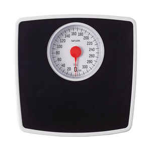 Taylor  330 lb. Analog  Bathroom Scale  Black