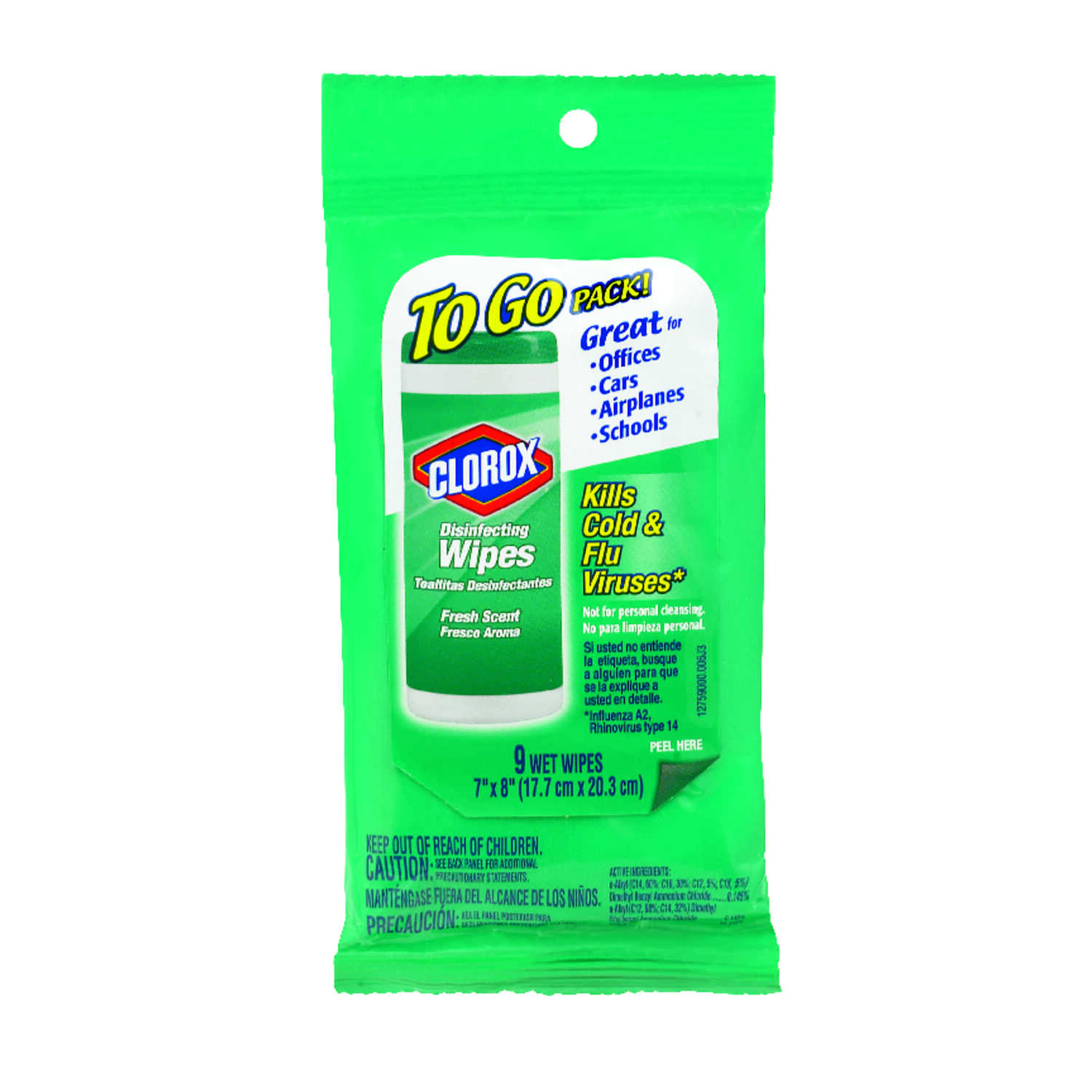 Clorox  Wet Cleansing Towelette  1.6 oz. 9 pk