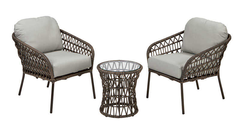 Northcape  Milan  3 pc. Deep Seating  Powder Coated Steel  Bistro Set