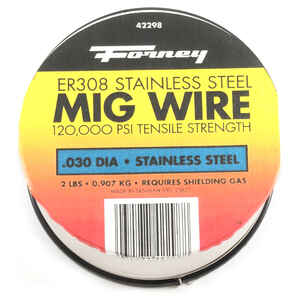 Forney  0.03 in. Stainless Steel  MIG Welding Wire  120000 psi 2 lb.