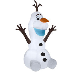 Gemmy  Airblown  Sitting Olaf  Christmas Inflatable  Polyester  Multicolored  1 pk