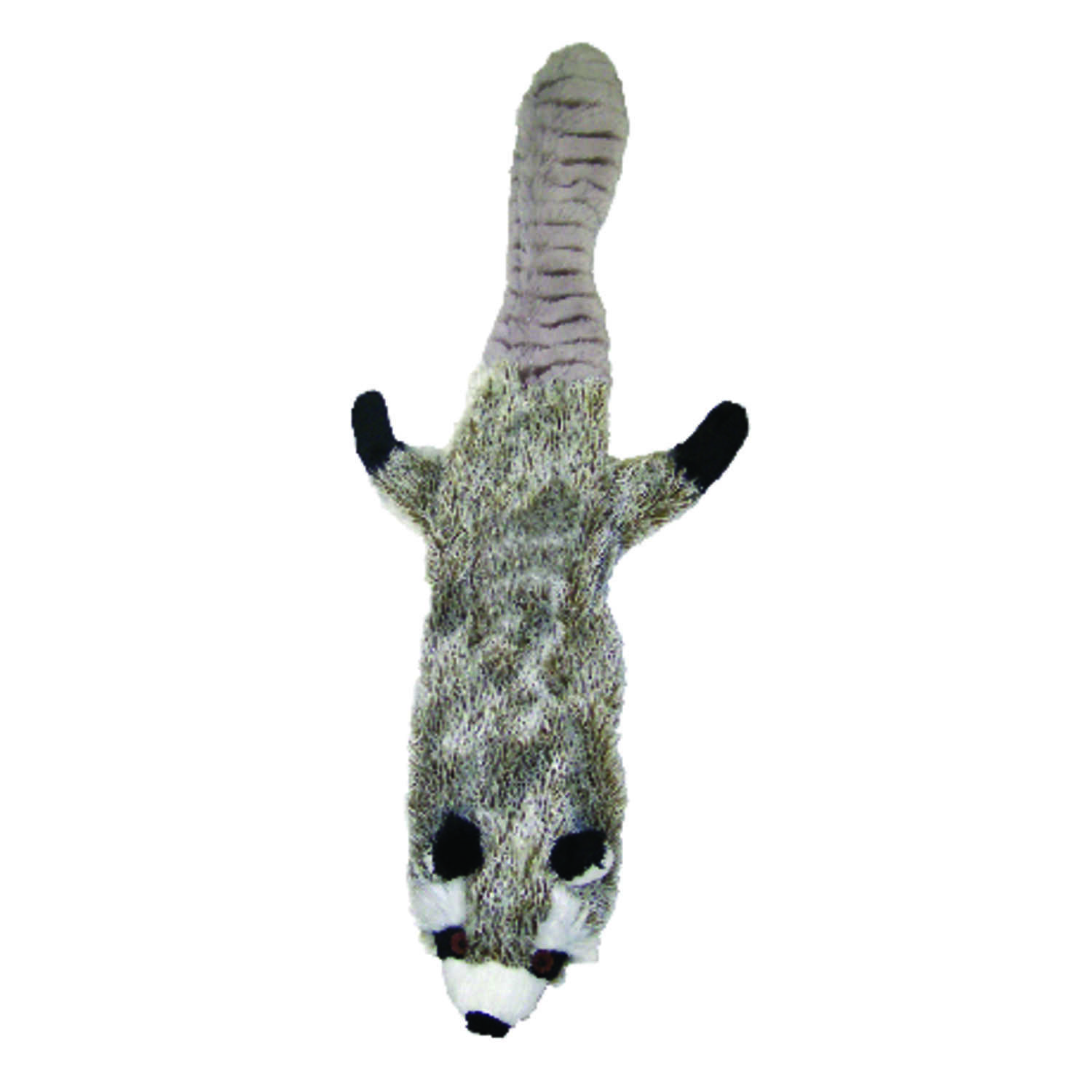 Skinneeez  Multicolored  Raccoon  Dog Toy  Small  Plush