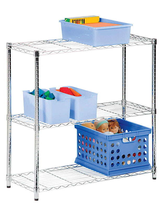 Honey Can Do  30 in. H x 14 in. W x 24 in. D Steel  Shelving Unit