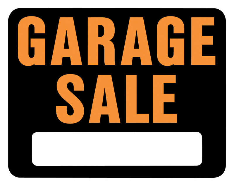 Hy-Ko  Hy-Glo  English  Black  Garage Sale  Sign  14.5 in. H x 18.5 in. W
