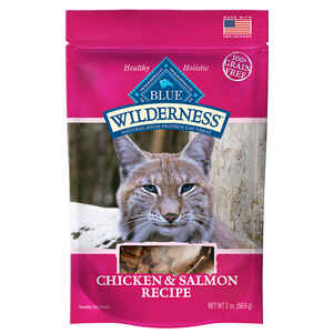 Blue Buffalo  Blue Wilderness  Chicken and Salmon  Grain Free Treats  For Cat 2 oz. 1 pk
