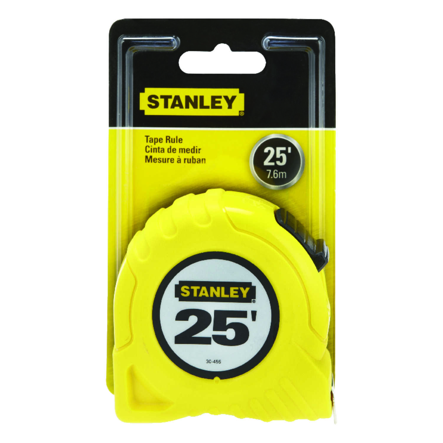 Stanley  1 in. W x 25 ft. L Tape Rule  1 pk Yellow