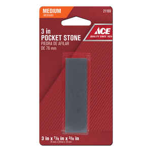 Ace  3 in. L Aluminum Oxide  Pocket Sharpening Stone  80 Grit 1 pc.