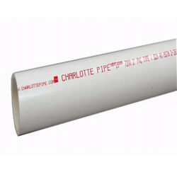 Charlotte Pipe  Schedule 40  PVC  Dual Rated Pipe  2 in. Dia. x 10 ft. L Plain End  280 psi
