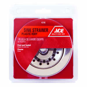 Ace  3-1/2 in. Dia. Plastic  Basket Strainer Assembly