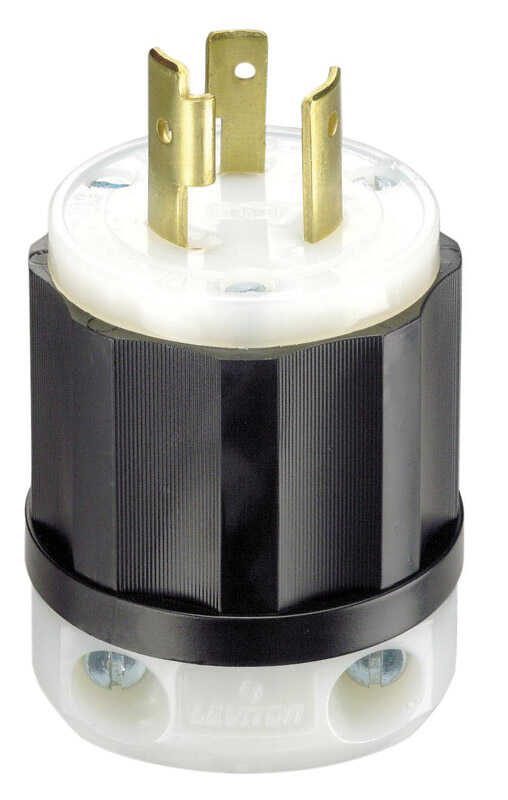 Leviton  Industrial  Nylon  Grounding  Plug  L6-20P  2 Pole 3 Wire