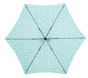 Living Accents  MARKET  9 ft. Tiltable Teal  Patio Umbrella