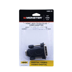 Monster Cable  Just Hook It Up  HDMI Adapter  1 each