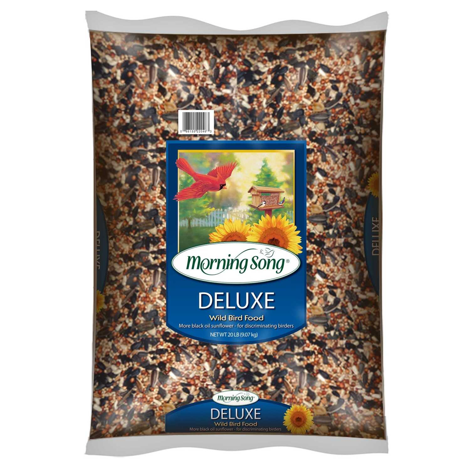 Morning Song  Deluxe  Assorted Species  Wild Bird Food  Black Oil Sunflower  20 lb.