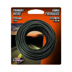 Coleman Cable  17 ft. 14 Ga. Primary Wire  Black