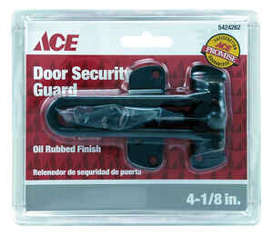 Ace  4-1/8 in. L Oil Rubbed Bronze  Steel  Chain Door Guard