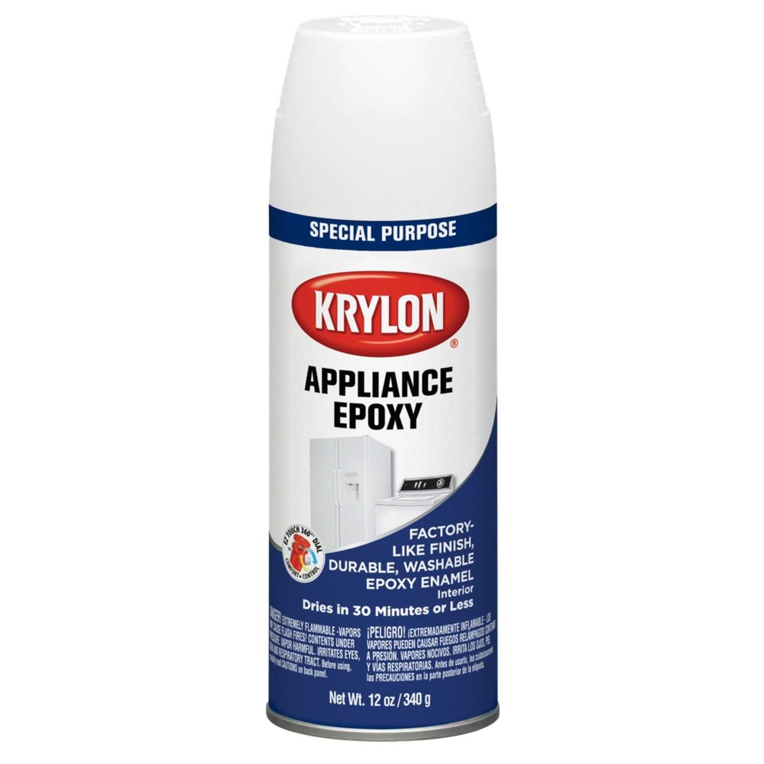 Krylon  Gloss  White  Appliance Epoxy  12 oz.