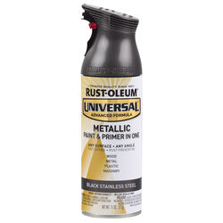 Rust-Oleum Universal Black Stainless Steel Metallic Spray Paint 11 oz.