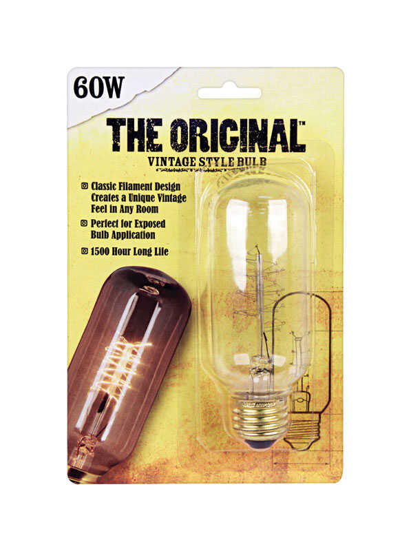 FEIT Electric  The Original  60 watts E26  Incandescent Bulb  215 lumens Soft White  1 pk Vintage