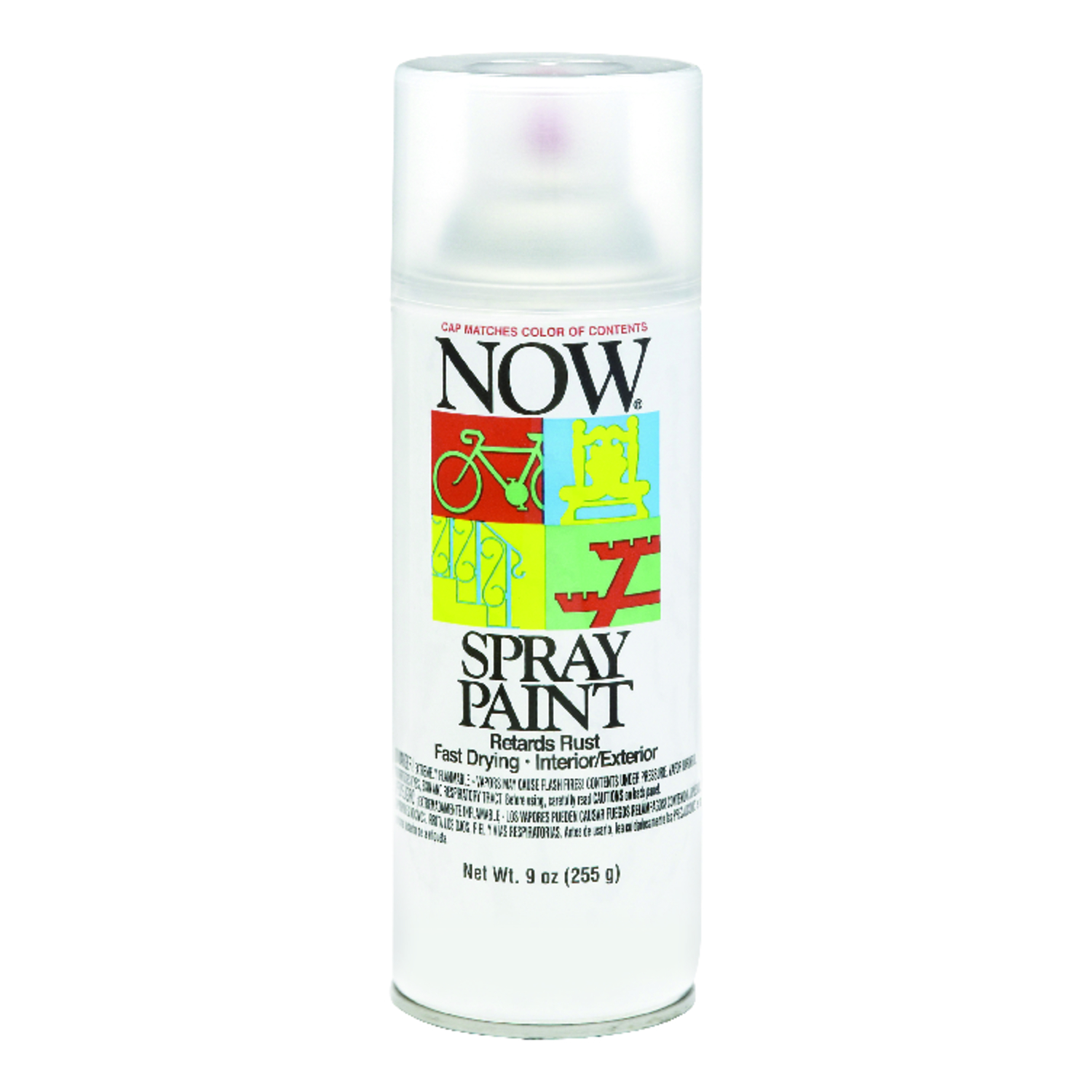 Now  Gloss  Clear  Spray Paint  9 oz.
