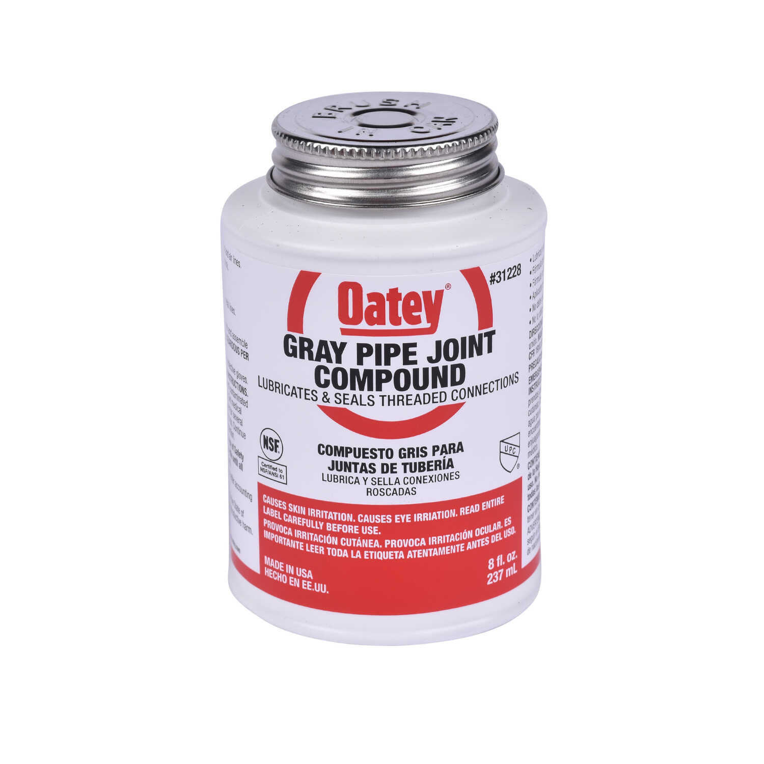 Oatey  White  Pipe Joint Compound  8 oz.