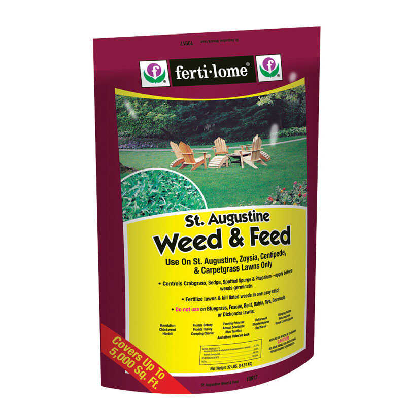 Ferti-Lome  St. Augustine  15-0-4  Weed and Feed  For Zoysia, Zoysia, Augustine 32 lb. 5000 sq. ft.